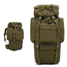 65L Large Capacity Travel Backpack Men Outdoor Sports Bag Hiking Camping Army Military Shoulder With Rain Cover