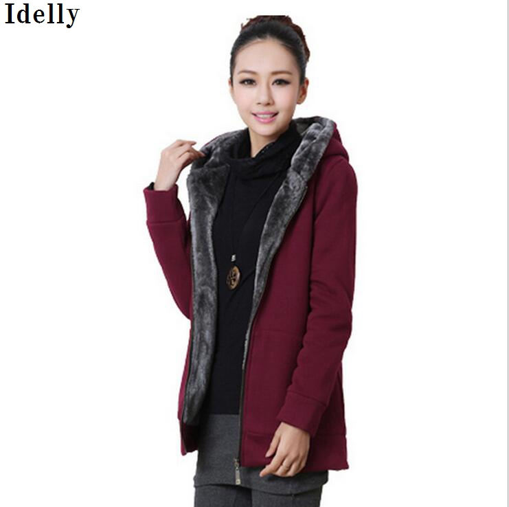 Idelly 2017 Chic Ladies Winter Warm Parka Cotton Slim Zipper Hoodie Jacket Coat Plus Size S-4XL chic chic chic s greatest hits