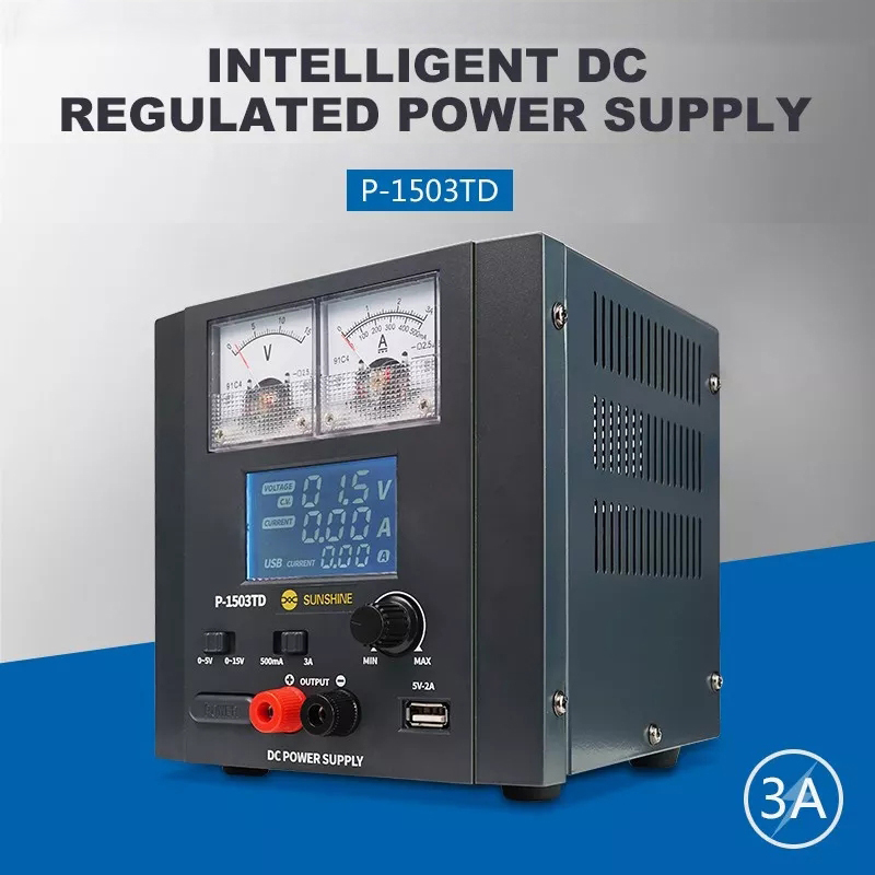 15V 3A intelligent DC Regulated Power Supply For Mobile Phone laptop Repair Detect Current And Voltage Power Test Tool-in Voltage Regulators/Stabilizers from Home Improvement    1