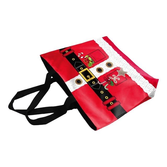 Fashion High Quality Printing Red Casual Canvas Tote Bag Women Shoulder Bags Handbag 2