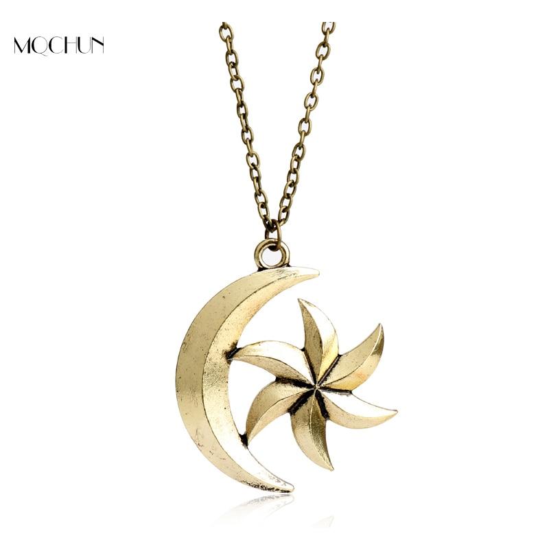 Mqchun The Elder Scrolls V игры Драгоценности Moon Star Ожерелья для мужчин Skyrim динозавр кулон Цепочки и ожерелья Для женщин Для мужчин Талисманы Рождестве...