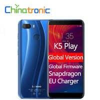 "Global Version Lenovo K5 Play L38011 ZUI 3.7 4G FDD LTE Mobile Phone Snapdragon Octa-core Dual SIM 5.7"" Dual camera Fingerprint"