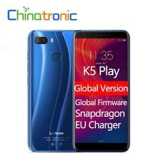 Küresel Sürüm Lenovo K5 Oynamak L38011 ZUI 3.7 4G LTE FDD Cep Telefonu Snapdragon Octa çekirdekli Çift SIM 5.7