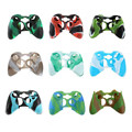 Quality Silicone Skin Case Cover for XBOX 360 Game Controller controle console gamepad accessories Protective case Camouflage