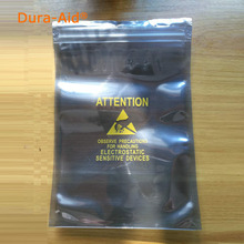 500pcs Zip Lock ESD Anti Static Electronic Accessories Shielding Packing Bags Self Seal Antistatic Bag With Attention Printed