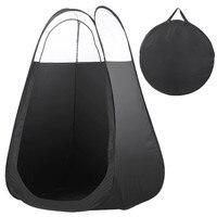 Meer Nuttig Black En Handig Outdoor Enkele Tenten Fotografie Vissen Wc Tent Pop Up Tanning Hoge Kwaliteit Outdoor Tent