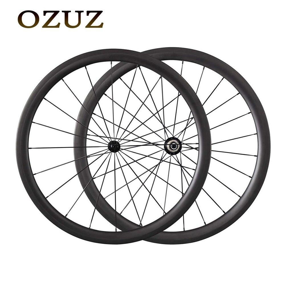 Custom Duty включены одежда высшего качества OZUZ 38 мм Глубина Керамика Подшипник дорожный велосипед колесная углерода довод трубчатый велосипед
