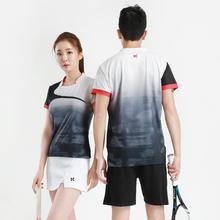 Мужская/женская рубашка для бадминтона, спортивные шорты, Спортивная футболка для бадминтона, Майки для настольного тенниса, одежда для тенниса, сухая крутая рубашка 11931