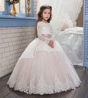 Vintage Colorful Ball Gowns with Ribbon Lace Up Tulle Mesh Lace Appliques Belt Open Back Birthday party Dress Custom size
