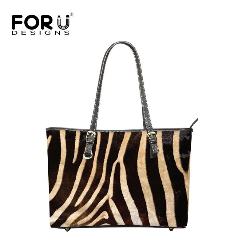 a29b2a41e6e7 FORUDESIGNS Cool Leopard Printing PU Leather Women Handbags