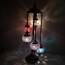 Turkish mosaic e14 led Floor light Mediterranean Art Deco Handcrafted mosaic stained Glass romantic lamparas con mosaicos