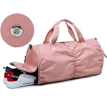 Pink Yoga Bags For Women With Dry Pocket Men Sport Gym Bag Shoe Compartment Waterproof Oxford Swimming Pool Pouch Handbag