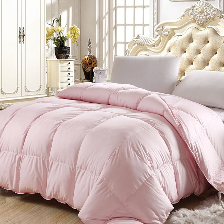 Twin Queen Full King Size Pink Color 50 Goose Down