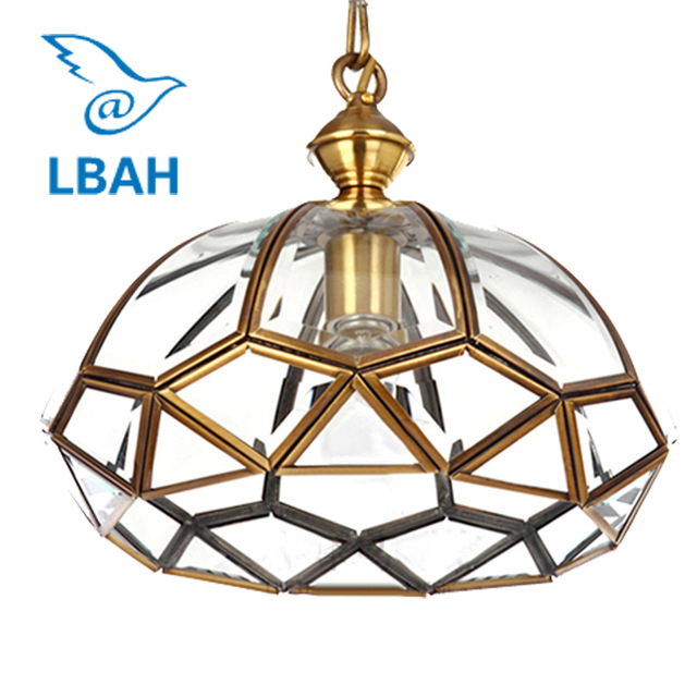 American country full copper dome corridor lamp Jane the porch room balcony kitchen contracted glass pendant light free shipping ems full copper porch corridor balcony lamp american country big droplight household decorates beautification