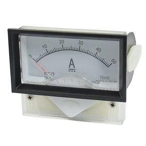 85C17 DC 0-50A/75MV Analógico Medidor de Painel Amperímetro Amperímetro 70*40mm