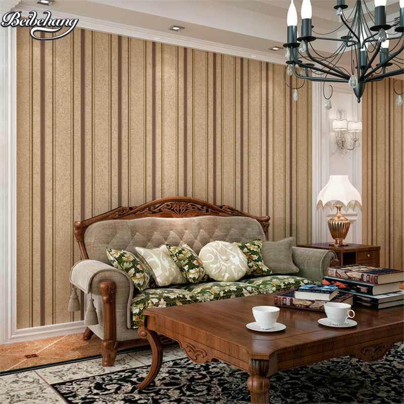beibehang American retro do old personality wallpaper living room bedroom backdrop non - woven vertical stripes beibehang shop for living room bedroom mediterranean wallpaper stripes wallpaper minimalist vertical stripes flocked wallpaper
