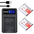 2 Шт. NP-BG1 NP BG1 Батарея + LCD USB Зарядное Устройство для Sony DSC-W35 DSC-W40 DSC-W50 DSC-W50B W3 W50 W55 W70 W80 W90 W100 W120 Камера
