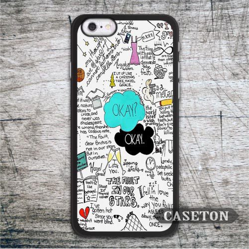 Okay OK Fault In Our Stars Case For iPhone 7 6 6s Plus 5 5s SE 5c and For iPod 5 High Quality Lovely Quote Classic Cover