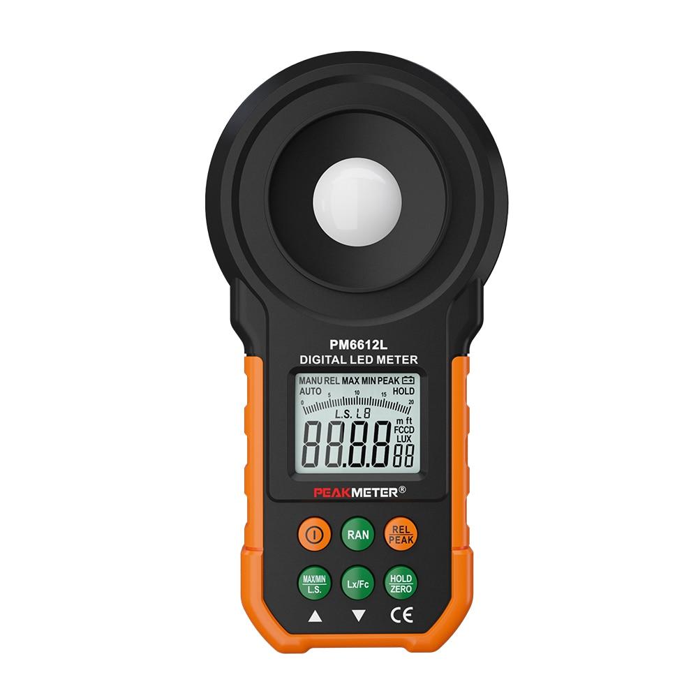 Official PEAKMETER PM6612L LED Digital Analog Bar Light Lux Meter 200000 lux Handheld Light Meter for Light Measuring митсубиси аутлендер с пробегом свердловске цена 100000 до 200000