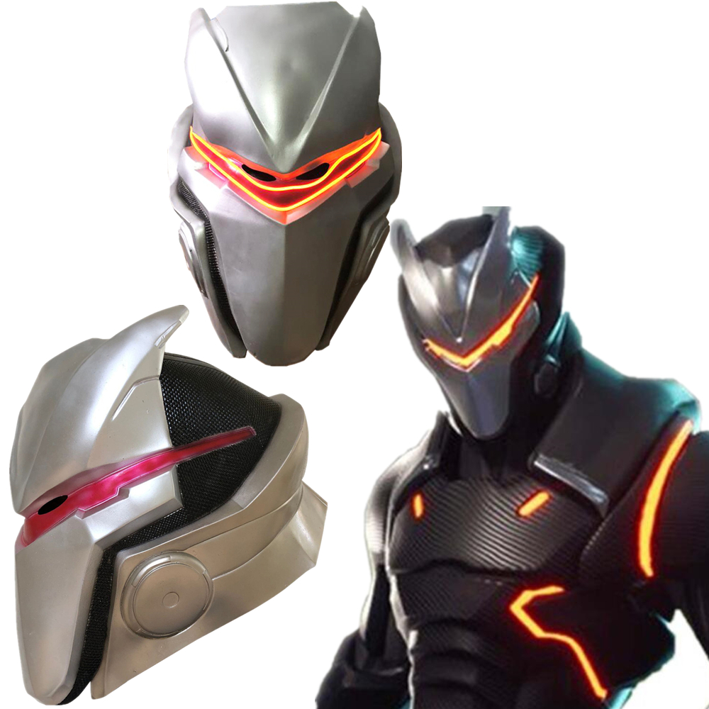 Game Adult Kids Omega Oblivion link Latex Mask Helmet Halloween Cosplay Costumes Led Masks Props