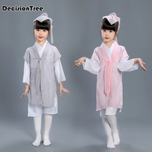 2019 new children ancient costume hanfu traditional chinese folk dance tang dynasty qing ming opera dance costumes dress cosplay 2018 autumn kids chinese princess costume traditional dance costumes girls floral children folk ancient hanfu tang dynasty dress