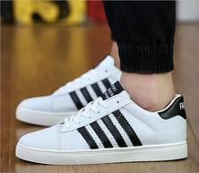 Love myun 2016 new casual fashion men shoes leather men shoes spring and autumn men and  women shoes white black