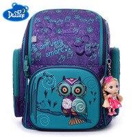 العلامة التجارية الشهيرة الأطفال الحقائب المدرسية للفتيات الفتيان 3d البومة الدب طباعة المدرسية أطفال الأطفال العظام mochila اجتماعيون