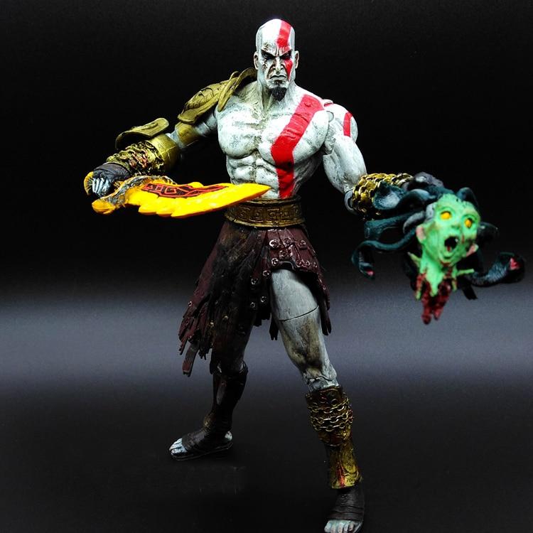SAINTGI 1pcs/set Kratos 3 God of war Ghost of Sparta PA Play Arts Kai GOD OF WAR 3 Superhero Avengers PVC 20cm Predators Figures