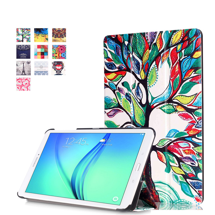 PU Leather Stand Case Cover For Samsung Galaxy Tab E 9.6 T560 T561 SM-T560 T565 T567V 9.6 Tablet + 2Pcs Screen Protector 37pcs universal laptop ac dc jack power supply adapter connector plug for hp ibm dell apple lenovo acer toshiba notebook cable