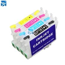 T0461 cartucho de tinta recarregável para epson c83 c85 cx4500 cx6500 cx6300 c63 c65 cx3500 impressora com chip de reset automático transporte da gota