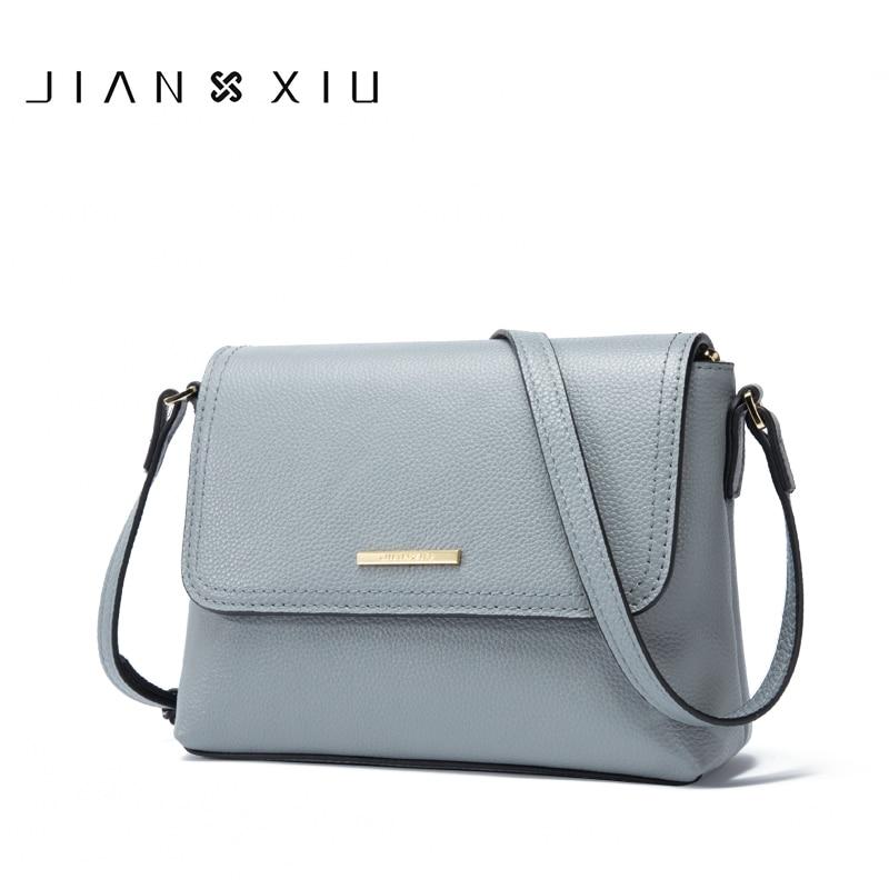 JIANXIU Brand Genuine Leather Bag For Women Messenger Bags Female Shoulder Crossbody Small Bag 2019 High