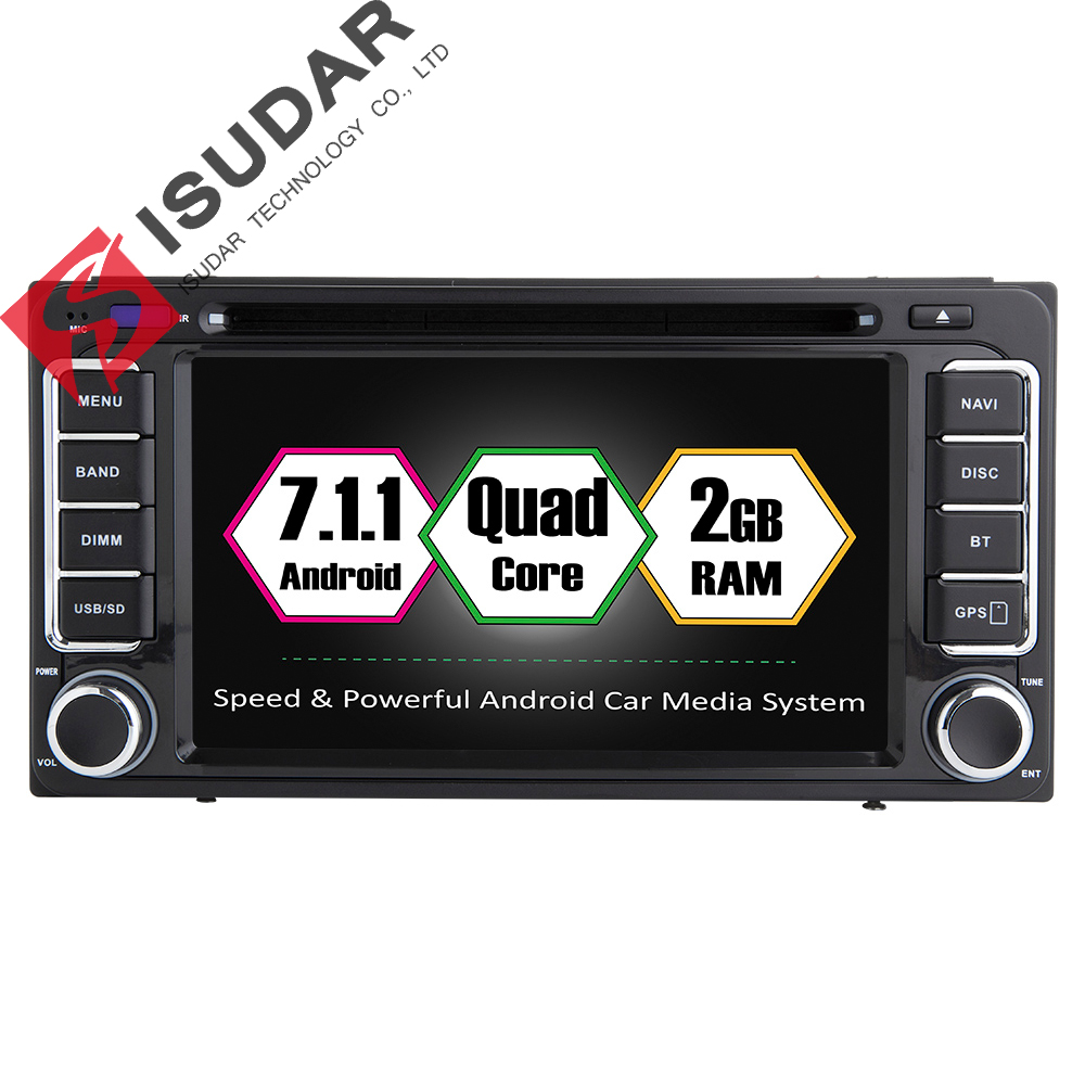 Isudar Car Multimedia player GPS Android 7.1.1 DVD Automotivo 2 Din Autoradio For Toyota/Corolla/Subaru/Forester/Impreza Radio