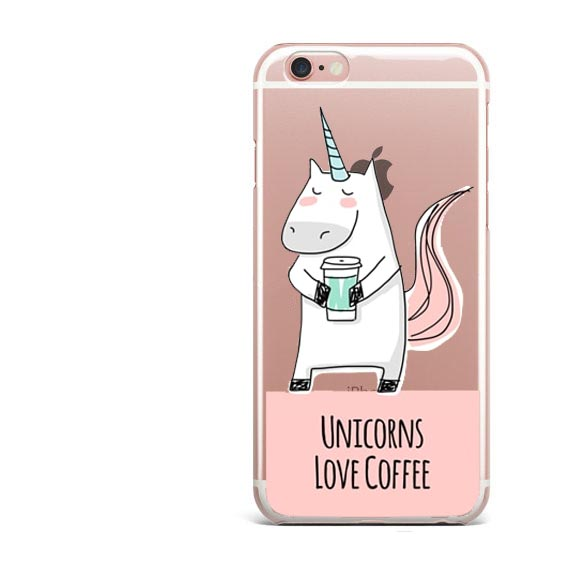 Cute  I'm a Slothicorn Rainbow unicorn Love coffee cats Soft TPU Design Phone Case Back Cover For iphone SE 5S 6 7 6S 7Plus