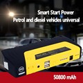 2017 Best Mini Portable Car Jump Starter 50800mah Emergency Start 12V for Petrol Engine Multi-Function Power Bank Battery Yellow