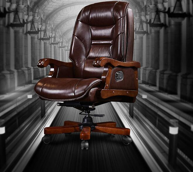 The boss chair leather chair can lie computer chair home with massage can lift head layer cowhide office chair.8 240320 home office can lie down high density inflatable sponge 360 degrees can be rotated computer chair boss massage chair