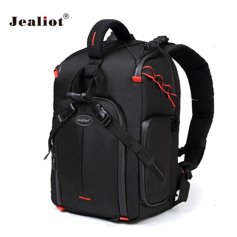 Jealiot camera bag backpack dslr photo waterproof laptop Tripod Flash Inserts bag Lens case for canon
