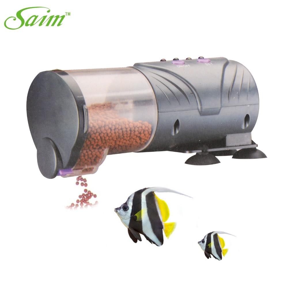 Saim Daily Double II Battery-Operated Automatic Fish Feeder Aquarium Food Feeder Device Timer Auto Food Feeder