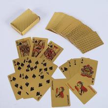 Игральные карты 24 K Золотая фольга покер подарочная коллекция прочный водонепроницаемый колода прочные водостойкие карты