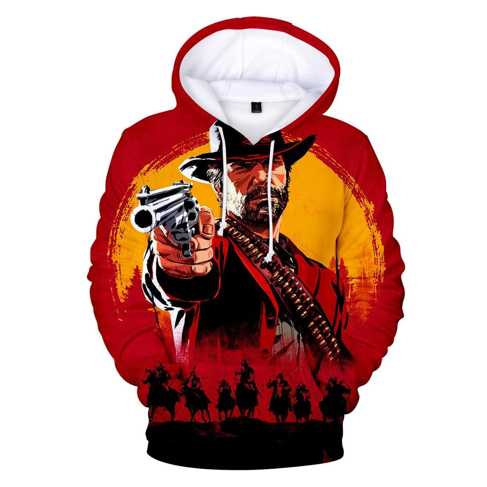 RED DEAD REDEMPTION 2 hoodies Streetwear Harajuku Winter Hoodies Men Hip Hop Anime Fashion Tops Sweartshirt
