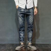 Brand Fashion Jeans Men 2017 Winter Autumn New Jeans Male Large size Fit Zipper Casual Denim Trousers Collapse pants Hip hop