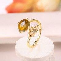 Abertura do anel de 925 anel de prata esterlina pedra natural por atacado fabricantes de nova feminino anel de prata anel de casamento de ouro para as mulheres