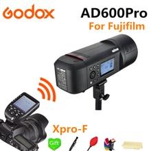 лучшая цена Godox AD600Pro 2.4G Wireless X System TTL Outdoor Li-Battery Studio Flash Strobe Light + Xpro-F Flash Trigger for Fujifilm FUJI