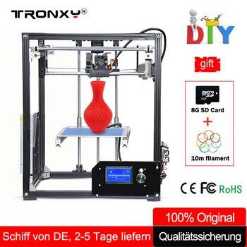 Tronxy 3D Drucker Kit Große 3D Druck Bereich 210*210*280mm LCD Bildschirm Extruder Aluminium Rahmen Metall 3 d drucker mit Beheizten Bett
