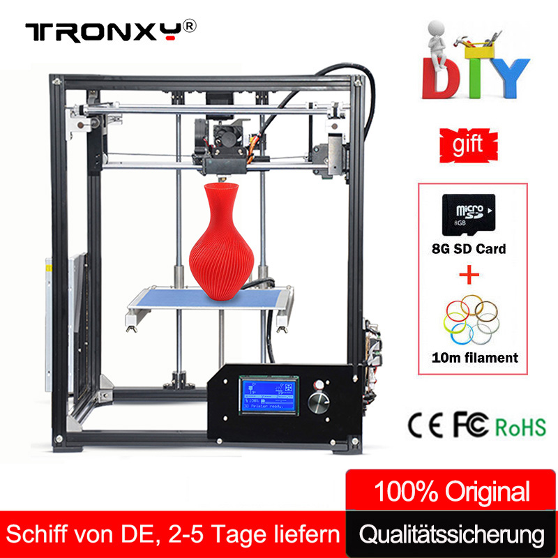 Tronxy 3D Printer Kit Large 3D Printing Area 210*210*280mm LCD Screen Extruder Aluminium Frame Metal 3 d printer with Heated Bed цены