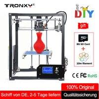 Tronxy 3d Принтер Комплект Большой 3D печать области 210*210*280 мм ЖК экран экструдер алюминиевый каркас металл 3 d принтер с подогревом кровать