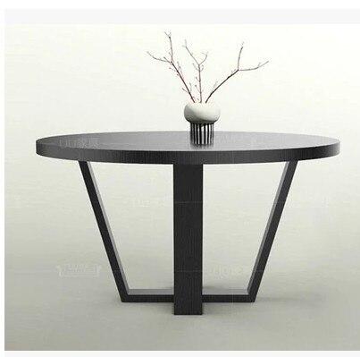 Mesa redonda a discutir americana mesa de comedor de madera grande ...