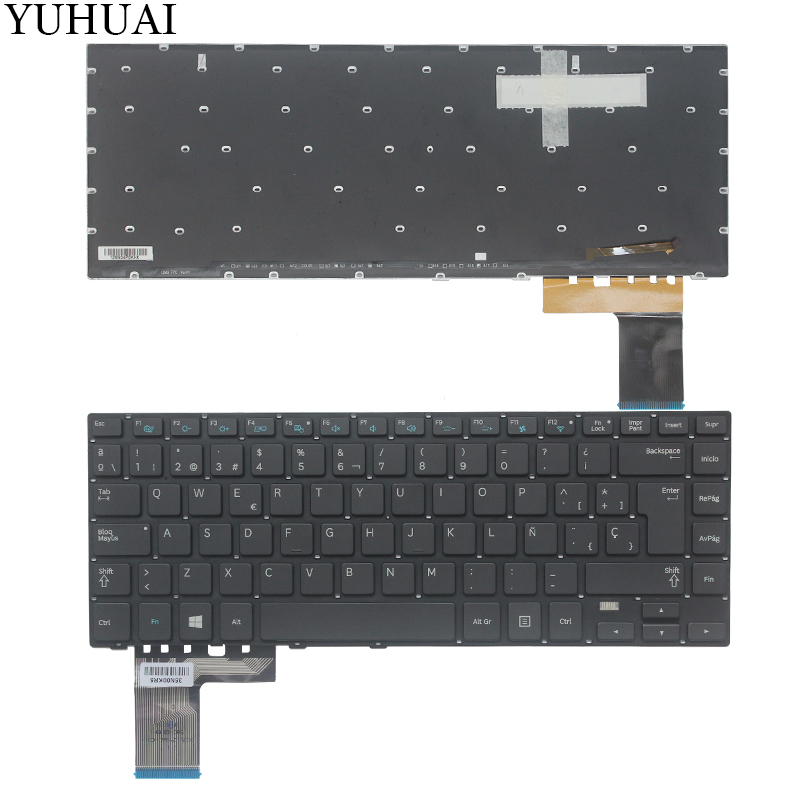 New Spanish laptop <font><b>keyboard</b></font> FOR <font><b>Samsung</b></font> 530U4E 540U4E <font><b>NP530U4E</b></font> NP540U4E SP <font><b>Keyboard</b></font> Backlit image