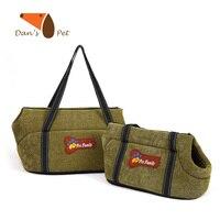 Pet Cat Dog Carrier Travel Tote Shoulder Soft Fabric Bag Purse Built In Lock Design Collapsible