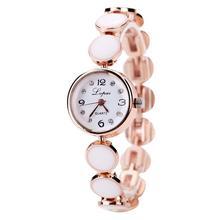Lvpai Model 2016 Trend Girls Quartz Watch Luxurious Gold Plated Quartz Wristwatches Gemstone Trend Gown Informal Watch