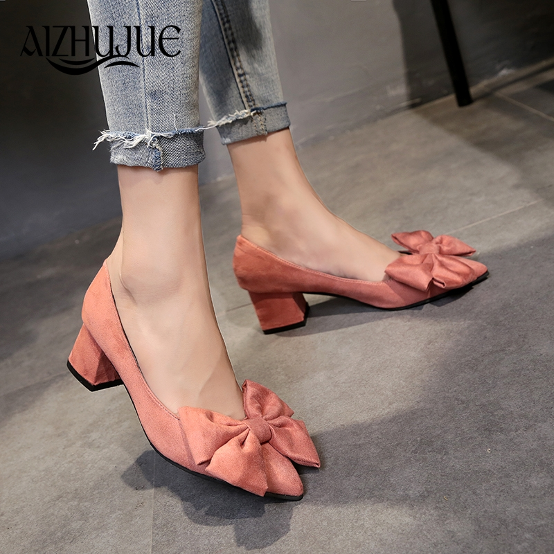 Women's Office Shoes 2018 New Fashion OL Solid Color Suede Heels Patent Leather Pointed Toe Shallow High Heels Shoes Women new fashion club pointed shoes simple metal hollow shallow mouth ol fine with sandals women high heels